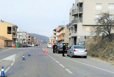 Un dels punts on s'han detectat més infraccions és la carretera de Sant Llorenç