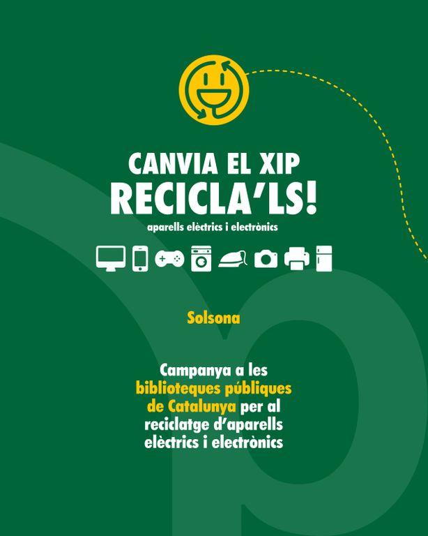 La biblioteca solsonina fomenta la recollida selectiva d'aparells elèctrics i electrònics amb quatre activitats