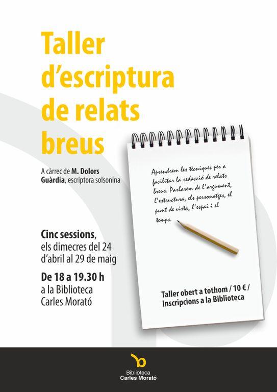 La biblioteca solsonina programa un taller d'escriptura de relats breus obert a tothom