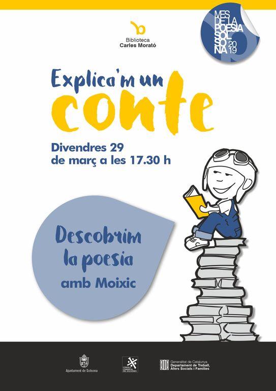 "La biblioteca solsonina tanca la temporada del cicle ""Explica'm un conte"" amb poesia de la mà de Moixic"