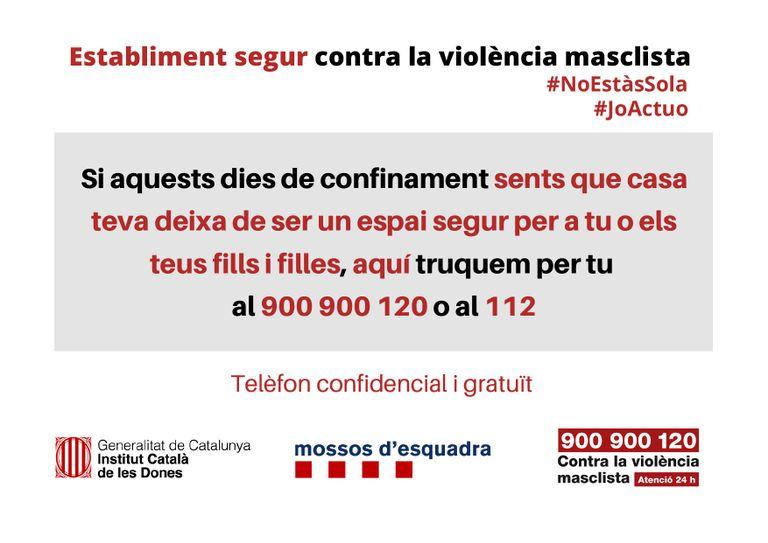 """La campanya """"Establiment segur contra la violència masclista"""" arriba al Solsonès"""