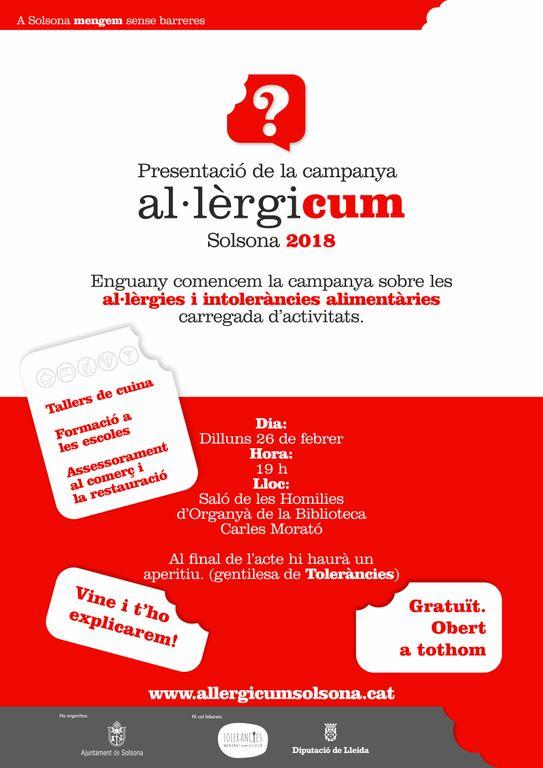 La campanya solsonina 'Al·lèrgicum' posa l'accent en els establiments
