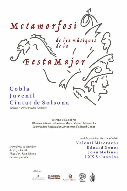 La cobla solsonina obre la Festa Major amb un concert que estrena obres de Valentí Miserachs i Eduard Gener