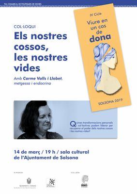 La doctora Carme Valls parla de l'impacte del patriarcat en la salut femenina dijous a Solsona