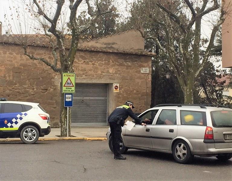 La Policia Local de Solsona intensifica els controls dels sistemes de seguretat passiva durant dues setmanes