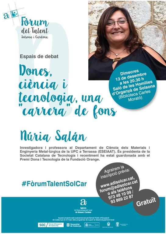 La presidenta de la Societat Catalana de Tecnologia parla a Solsona de la dona i les carreres tecnològiques