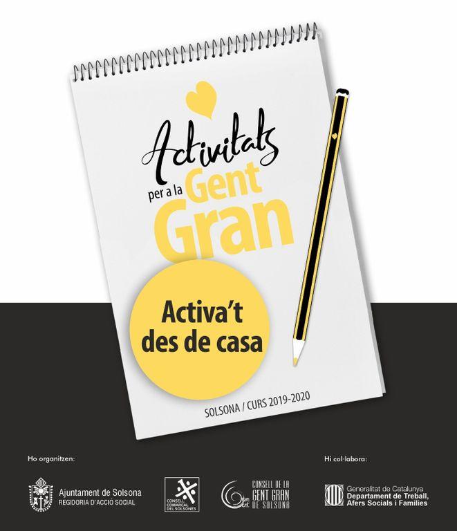 La programació d'activitats de la gent gran de Solsona s'adapta al confinament amb una quinzena de propostes a distància