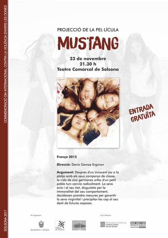 La projecció de 'Mustang' obre els actes de commemoració a Solsona del Dia internacional per a l'eliminació de la violència masclista