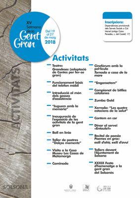 La quinzena Setmana de la Gent Gran de Solsona proposa una vintena d'activitats