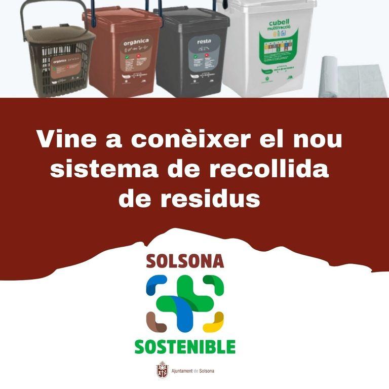La regidoria de Medi Ambient de Solsona convoca la ciutadania i els sectors econòmics per explicar-los el funcionament de la recollida porta a porta