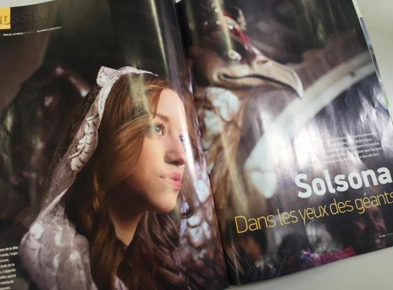 La revista francesa 'Pyrénées' dedica un reportatge al patrimoni geganter solsoní