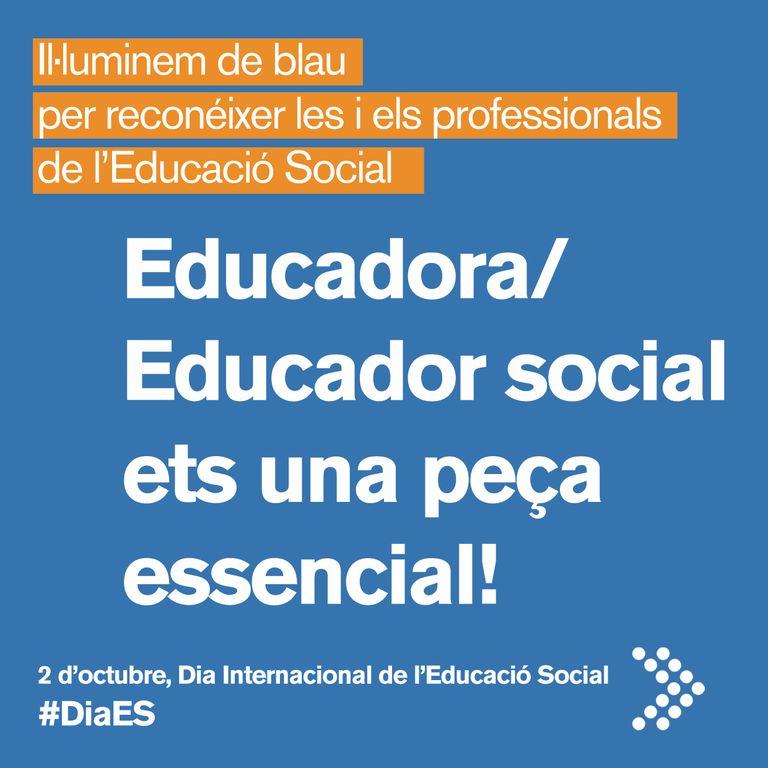 L'ajuntament de Solsona es tenyeix de blau aquest dissabte per l'educació social