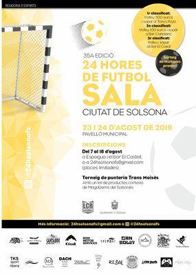 Les 24 Hores de Futbol Sala Ciutat de Solsona obren les inscripcions