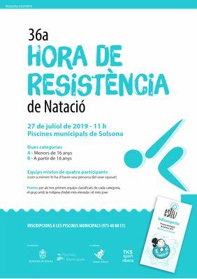 Les piscines municipals de Solsona obren les inscripcions de la 36a Hora de Resistència de Natació