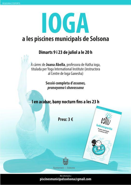 Les piscines municipals de Solsona organitzen dues sessions de ioga complementades amb un bany nocturn