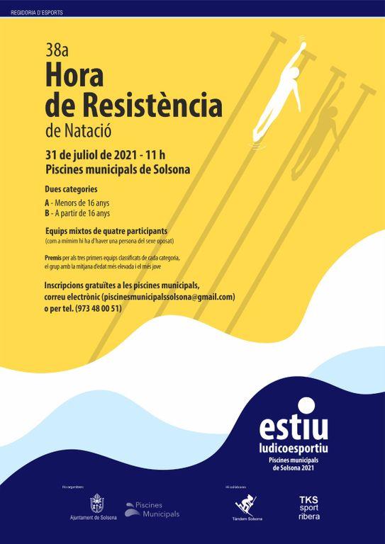 Les piscines municipals de Solsona posen a prova dissabte la resistència dels nedadors