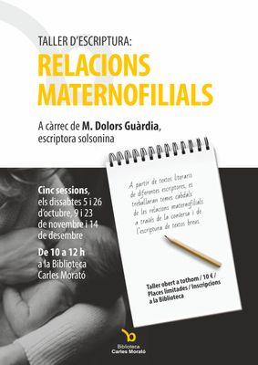 M. Dolors Guàrdia imparteix a Solsona una nova edició dels tallers d'escriptura centrada en les relacions maternofilials