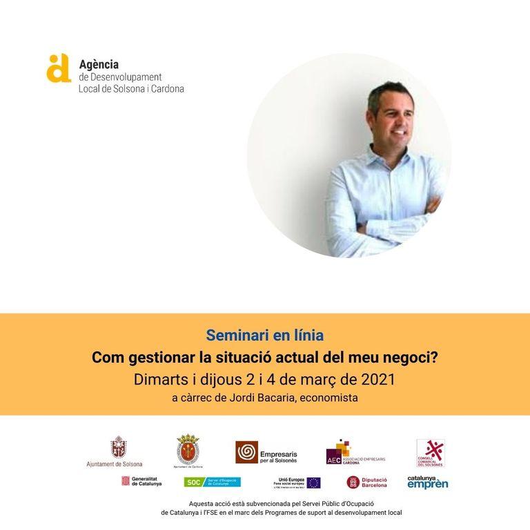 Nou seminari en línia sobre la gestió de la situació actual del negoci