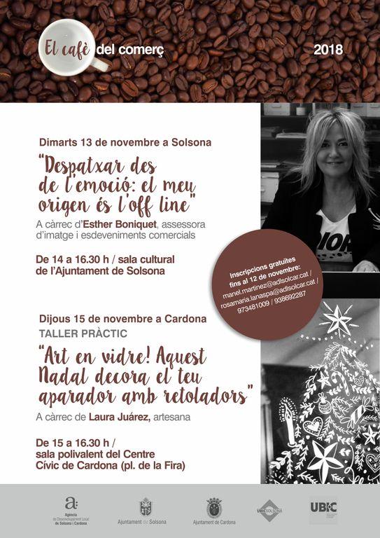 Noves sessions formatives la setmana vinent per als comerciants de Solsona i Cardona