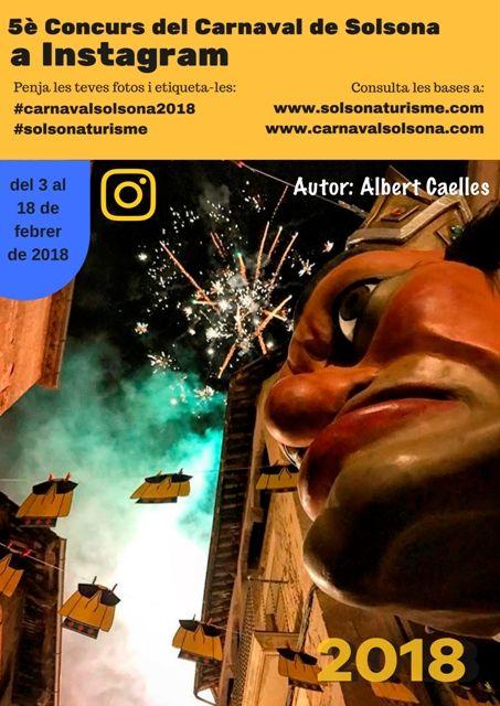Novetats en el premi del 5è Concurs del Carnaval de Solsona a Instagram