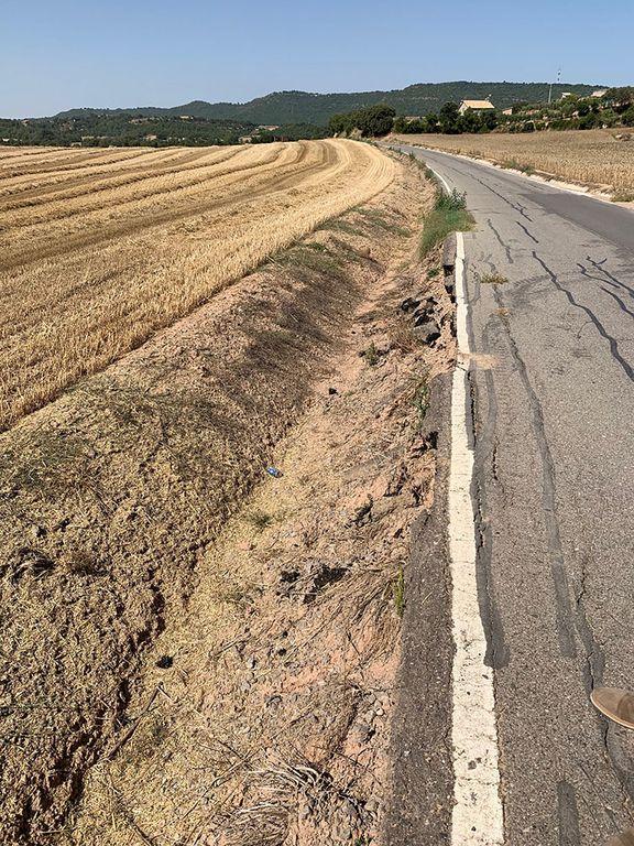 Obres de reparació del camí de Cal Xacó obliguen a tallar el vial de dijous a dilluns