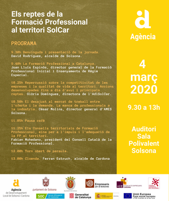 Organitzen una jornada per ajustar l'oferta i la demanda de treball amb la FP al Solsonès i Cardona