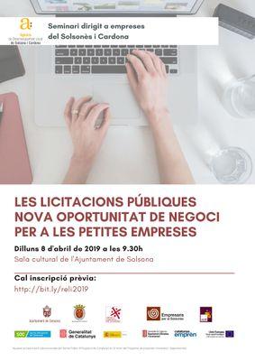Seminari a Solsona per a les empreses interessades en la contractació pública