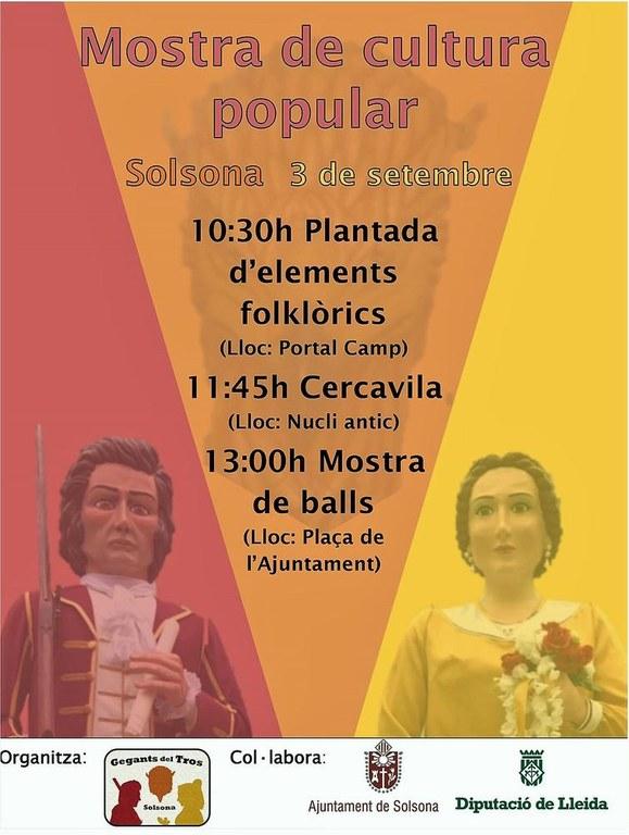 Solsona acull una mostra de cultura popular amb la participació de 14 colles