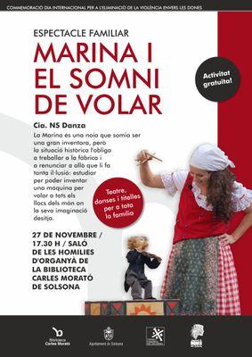 Solsona commemora el Dia per a l'eliminació de la violència envers les dones amb un espectacle familiar