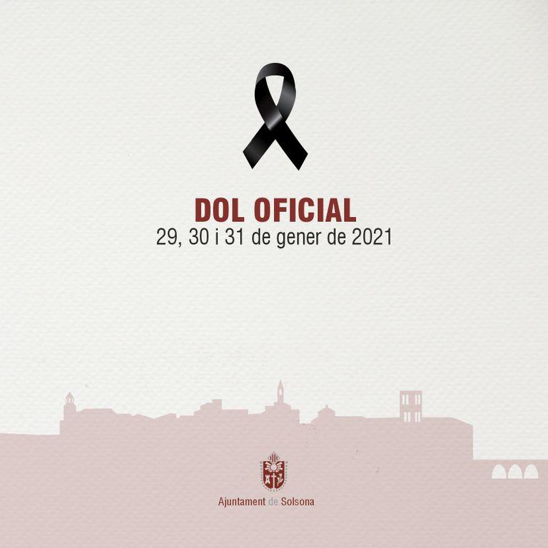 Solsona decretarà tres dies de dol oficial per les víctimes de la COVID-19