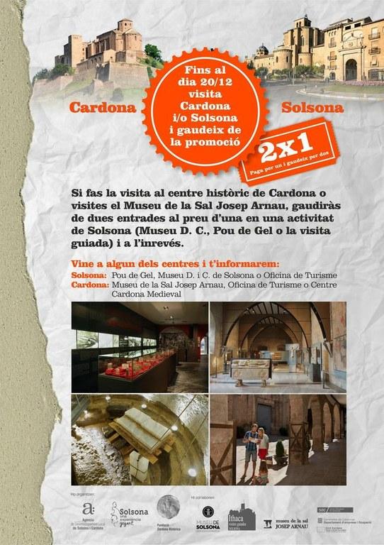 Solsona i Cardona amplien la seva aliança per promocionar-se turísticament amb ofertes 2x1