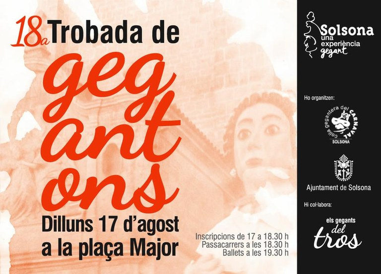 Solsona manté la Trobada de Gegantons, que se celebrarà dilluns a la plaça Major