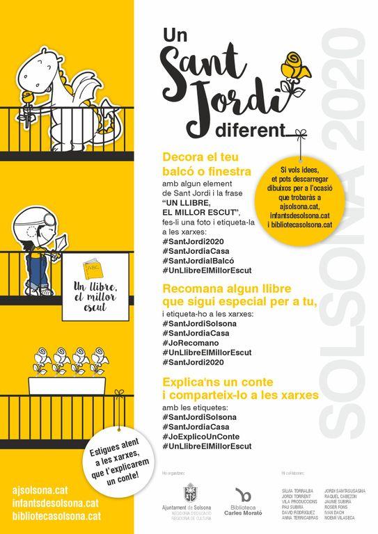 Solsona prepara un Sant Jordi diferent que es manifestarà als balcons i a les xarxes socials