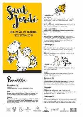 Solsona programa una dotzena de cites literàries i musicals pels volts de Sant Jordi