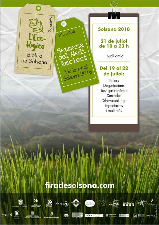 Solsona programa una vintena d'activitats per celebrar conjuntament la Setmana del Medi Ambient i la biofira L'Ecològica