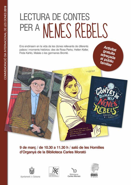 Solsona proposa una lectura de contes dissabte per commemorar el Dia Internacional de les Dones