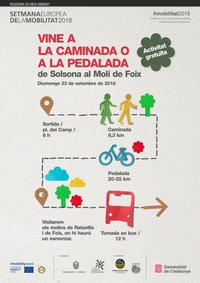 Solsona s'adhereix a la Setmana Europea de la Mobilitat amb una caminada i una pedalada fins al Molí de Foix