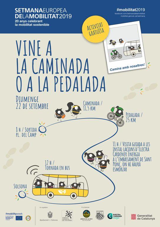 Solsona se suma a la Setmana Europea de la Mobilitat amb una caminada i una pedalada fins al pantà de Sant Ponç